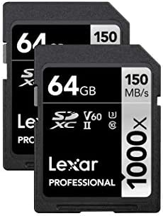 Lexar Professional 1000x 64GB (2-Pack) SDXC UHS-II Cards