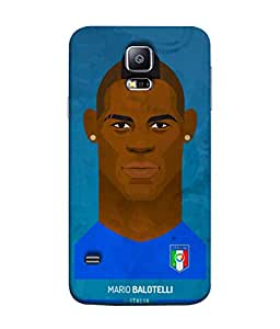 ColorKing Football Balotelli Holand 01 Blue shell case cover for Samsung S5