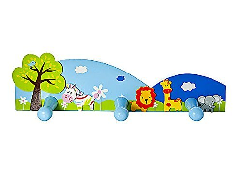 Kids Safari Animal Themed Coat Hooks Wall Door Hooks for Boys or Girls Nursery or - Coat Hook Lion