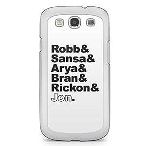 Game of thrones Samsung Galaxy S3 Transparent Edge Case - Stark Kids