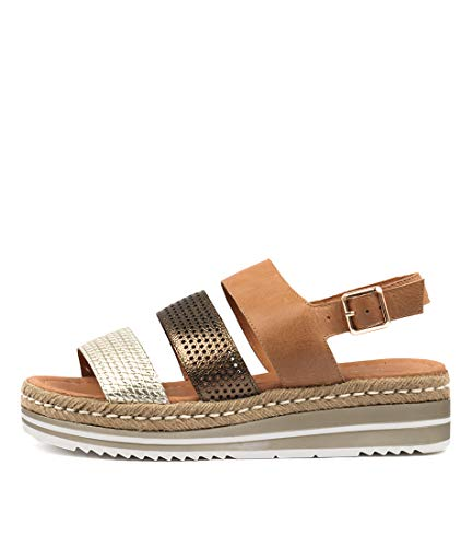 DJANGO & JULIETTE AKIDNA Womens Heels Womens Shoes TAN BRONZE MULTI