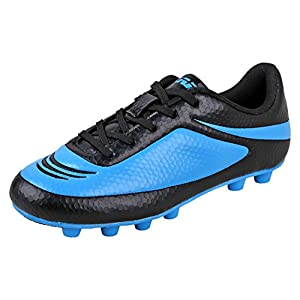 Vizari Youth/Jr Infinity FG Soccer Cleats | Soccer Cleats Boys | Kids Soccer Cleats | Outoor Soccer Shoes | Black/Sky 9
