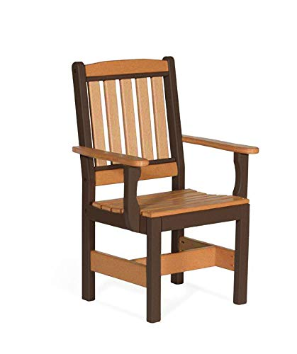- Leisure Lawns Poly Lumber English Garden Dining Chair (Cedar and Brown)