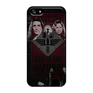 Anti-Scratch Hard Phone Cases For Iphone 5/5s With Custom Stylish Bon Jovi Pattern KevinCormack