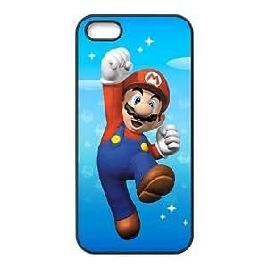 iPhone 5,5S phone cases Black Super Mario Bros Phone cover NAS3845452