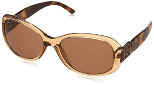 Escada Oval Sunglass (Transparent and Brown) (SES-132-0D67)
