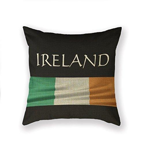 Kidmekflfr Standard Pillowcase Ireland Irish Flag Throw Pillow 18 X 18 Square Cotton Linen Pillowcase Cover Cushion by Cushion Cover