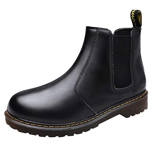 Price comparison product image Most Gifted! Teresamoon Men's Round-Toe Leisure Running Shoes Low Heels Leather Boots