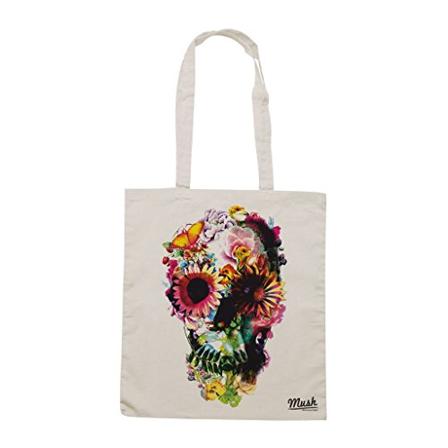 Borsa Skull Fiori - Panna - Famosi by Mush Dress Your Style