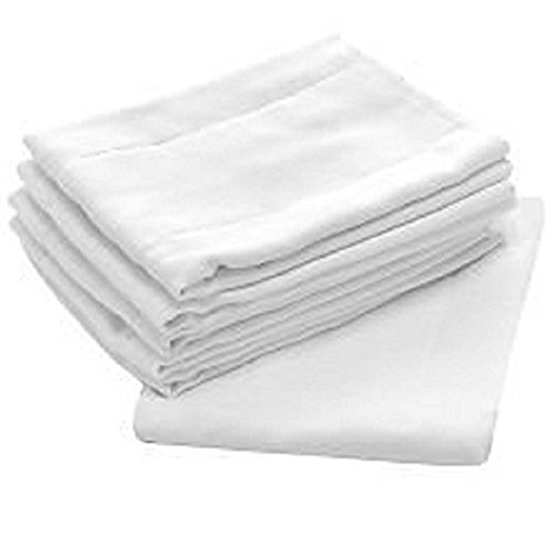 High Absorbency, Birdseye Diapers and Burp Cloth, Hypoallergenic, Soft and Safe On All Skins (6 pack)