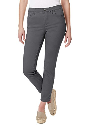 Buffalo David Bitton Womens Super Stretch Skinny Ankle Grazer Pant (8, Sterling Grey)