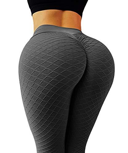 GILLYA Butt Lift Yoga Pants Ruched Butt Leggings Butt Lift Textured High Waisted Booty Lifting Anti-Cellulite Leggings 1