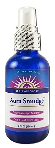 Aura Smudge Juniper Sage Spray Heritage Store 4 oz Spray ()