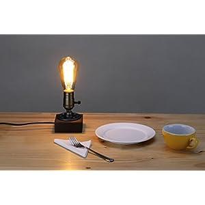 Kiven Vintage Industrial Decor Vintage Table Light Edison Bulb Wooden Desk Lamp Retro 1930s Home Decor Lighting Antique Nightlight Art Display
