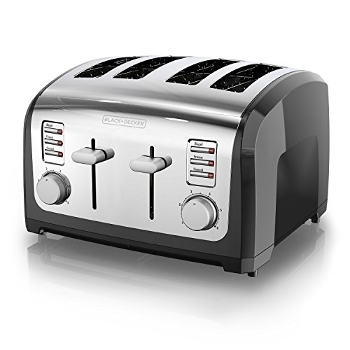 BLACK+DECKER 4-Slice Toaster, Stainless Steel, T4030 (Black And Decker 2 Slice Toaster Review)