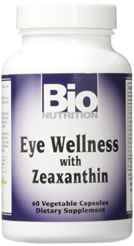 Bio Nutrition Eye Wellness with Zeaxanthin Vegetarian Capsules, 60 Count (Wellness Nutrition Sleep Aid)