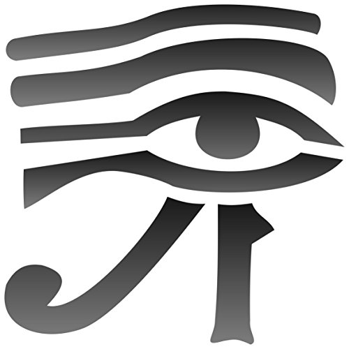 "Eye of Horus Stencil - (size 7""w x 7""h) Reusable Wall Ste..."