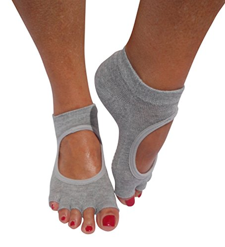 Yoga Socks Non Slip Sticky Gripper Sock (3 Pairs) Pedicure Set with Handy Storage Bag By Sempre