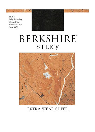 Berkshire Sheer Pantyhose (Berkshire Women's Silky Extra Wear Sheer Control Top Pantyhose 4428, Fantasy Black, 4)