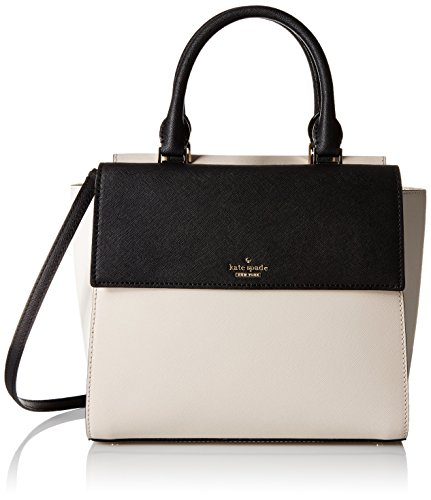 kate spade new york Cameron Street Small Blakely Satchel Bag, Crisp Linen/Cement/Black, One Size