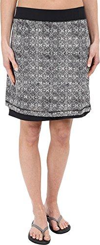 ExOfficio Women's Wanderlux Reversible Print Skirt, Dark Pebble Print, Large (Print Reversible Skirt)