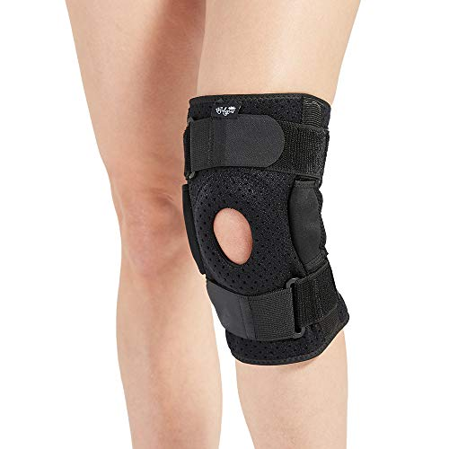 Hinged Knee Brace for Men and Women, Knee Support for Swollen ACL, Tendon, Ligament and Meniscus Injuries (X-Large)