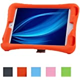 NEWSTYLE Shock Proof Case Light Weight Kids Super Protection Cover with Audio Amplifier Design for Apple iPad mini / iPad mimi 2 / iPad mini 3 3rd Gen (2014 Released) - Orange Color