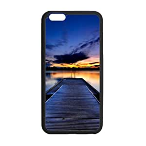 """super shining day Discount Sunset by the Pier TPU Material Snap on Case Cover for iPhone 6 Plus 5.5"""""""