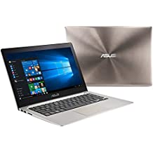Asus Zenbook 13.3 inch Full HD IPS 1920 x 1080 Flagship Laptop PC| Intel Core i5-6200U| 8GB RAM| 128GB SSD| VGA+USB2.0 to Lan Cable| Bluetooth| Sleeve| Webcam| Windows 10
