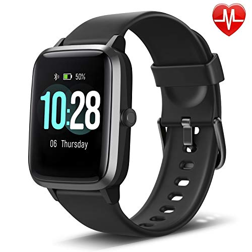 Letscom Smart Watch with Heart Rate Monitor, IP68 Waterproof Fitness Tracker with Pedometer Watch, Sleep Tracker, Step Counter, Health Smartwatch Compatible with iPhone and Android for Women Men