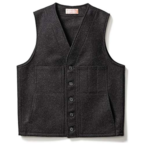- Filson Men's Mackinaw Wool Cruiser Vest, Charcoal, XL/Long