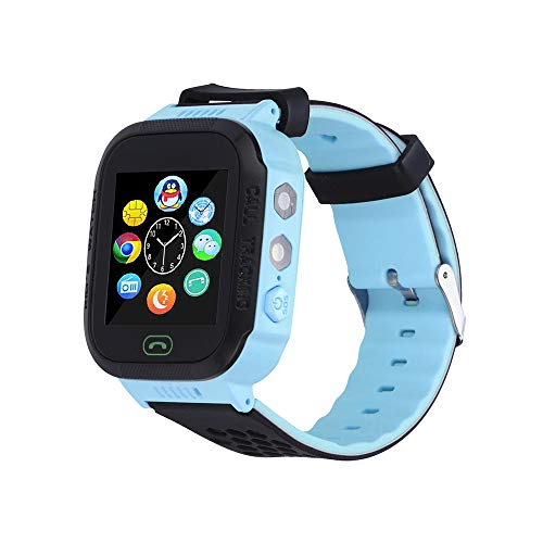 Kids Smart Watch - Smart Phone Watch for 3-12 Year Old Boys Girls with GPS Locator 1.44'' HD Touch Screen Fitness Tracker SOS Camera Game Flashlight Anti Lost Alarm Clock Holiday Birthday Gift (Blue) (Best Smartphone For 11 Year Old)