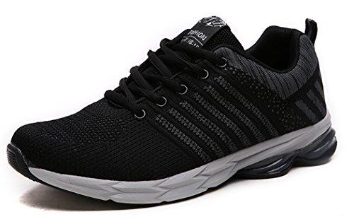 MXXM Uomo Donna Scarpe da Ginnastica Corsa Sportive Trekking Running Sneakers Fitness Interior Casual all'Aperto grigio