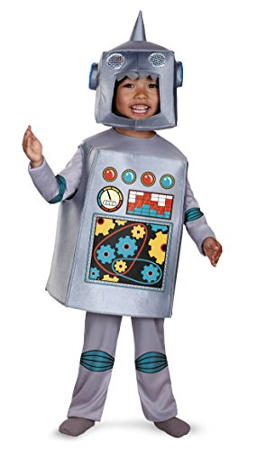 Halloween Costumes Using Cardboard Box (Disguise Artsy Heartsy Retro Robot Costume, Silver/Red/Blue/Yellow,)