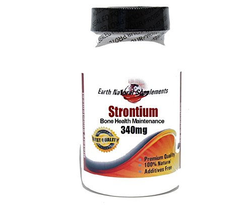 (Strontium Bone Health Maintenance 340mg * 200 Capsules 100 % Natural - by EarhNaturalSupplements)