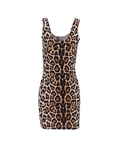 Classic Brown Animal Leopard Print Bodycon Dress