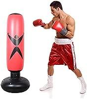 Ejercicio y Alivio del Estr/és Inflable 160 Cm lo Suficientemente Fuerte como para Ni/ños y Adultos Womdee Saco de Boxeo para Mujer Rojo Saco de Boxeo y Saco de Boxeo con Base Gruesa