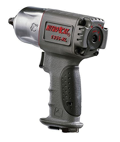 NitroCat 1355-XL 3 8-Inch Composite Air Impact Wrench With Twin Hammer Mechanism