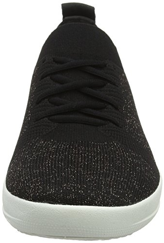 Bronze Uberknit Metallic Up Black Sneaker Lace Women's Sporty FitFlop 8wHgqn