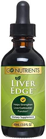 Liver Edge - Cleanse Detox & Support Supplement | Liquid Drops with Milk Thistle, Dandelion, Turmeric, Artichoke - 2 oz