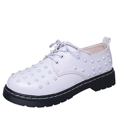 zapatos de moda remache bajo corte de primavera/Corea ocio Joker zapatos de talón redondo A