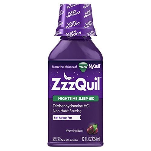 Nighttime Sleep Aid - Vicks ZzzQuil Nighttime Sleep Aid, Warming Berry Liquid 12 Fluid ounce