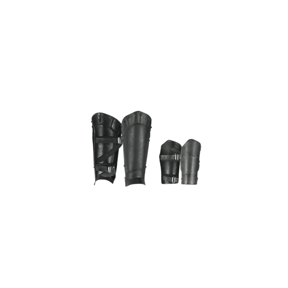 Armor Venue Undead Arm Bracer and Greave Set One Size Fit All - Black Armour