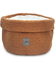 Jollein Luiertafel mand rond gebruiksvoorwerpen tas mand Bliss knit caramel