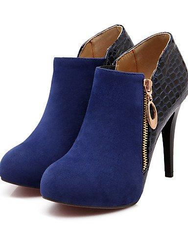 Azul Redonda Zapatos Tacón Rojo Cn38 Eu38 Boda us7 Xzz Stiletto Eu38 Cn38 Botas 07a156