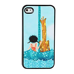 Bkjhkjy Cute Cartoon Pattern Dull Polish Hard Case for iPhone 4 and 4S (Multi-Color)