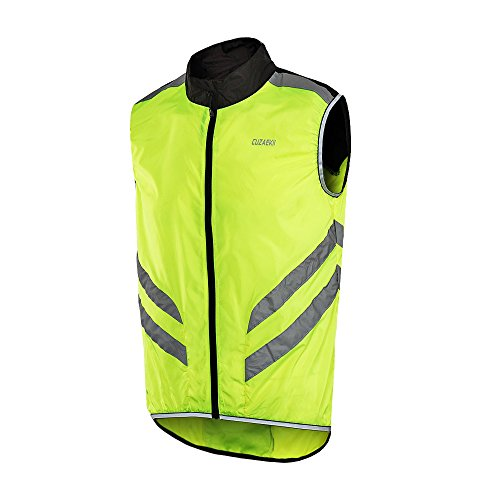 Cuzaekii Mens Windproof Sleeveless Cycling Jacket MTB Bike Vest Outdoor Sports Clothing