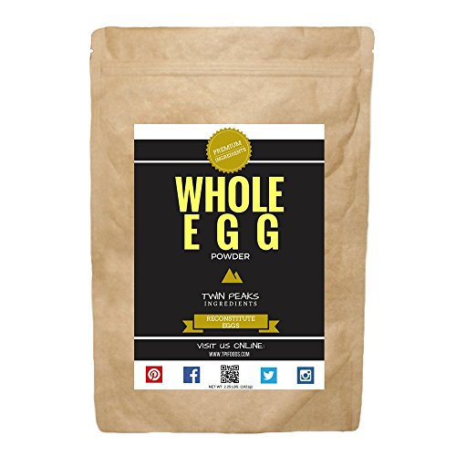 TPI Whole Egg Powder, Unflavored - Net Wt. 2.25 lbs. (1021g) by Twin Peaks Ingredients (TPI)