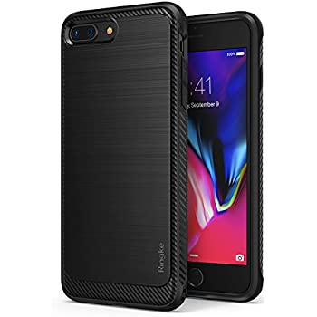 Apple iPhone 8 Plus Case Ringke [Onyx] [Extreme Tough] Rugged Flexible Protection, Durable Anti-Slip, TPU Heavy Impact Shock Absorbent Case for Apple iPhone 8 Plus - Black