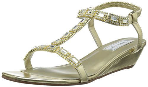 Touch Ups Women's Jazz Wedge Sandal, Gold, 10.5 M US